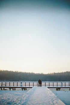 Free stock photo of snow, winter, relationship, lake