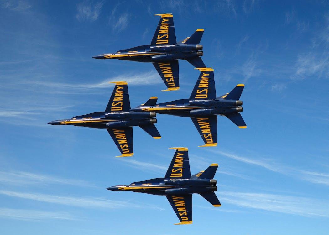 Foto profissional grátis de blue angels, esquadrão de demonstração aérea da marinha dos Estados Unidos
