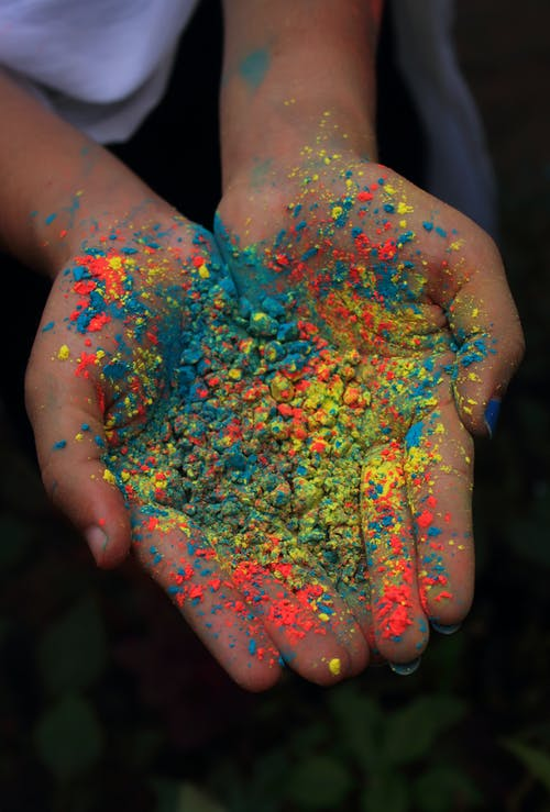 Palm Full Of Colorful Powder