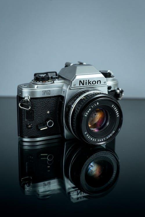 Kostnadsfri bild av 50 mm, chrome, elektronik, filmkamera