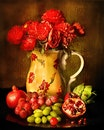 art, painting, fruits