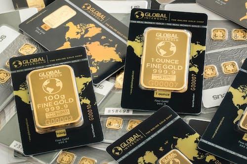 Photos gratuites de argent, boutique d'or, investissement, l'or c'est de l'argent