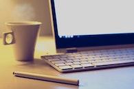 coffee, desk, notebook