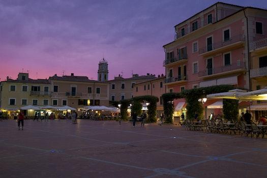 Free stock photo of city, sunset, night, street