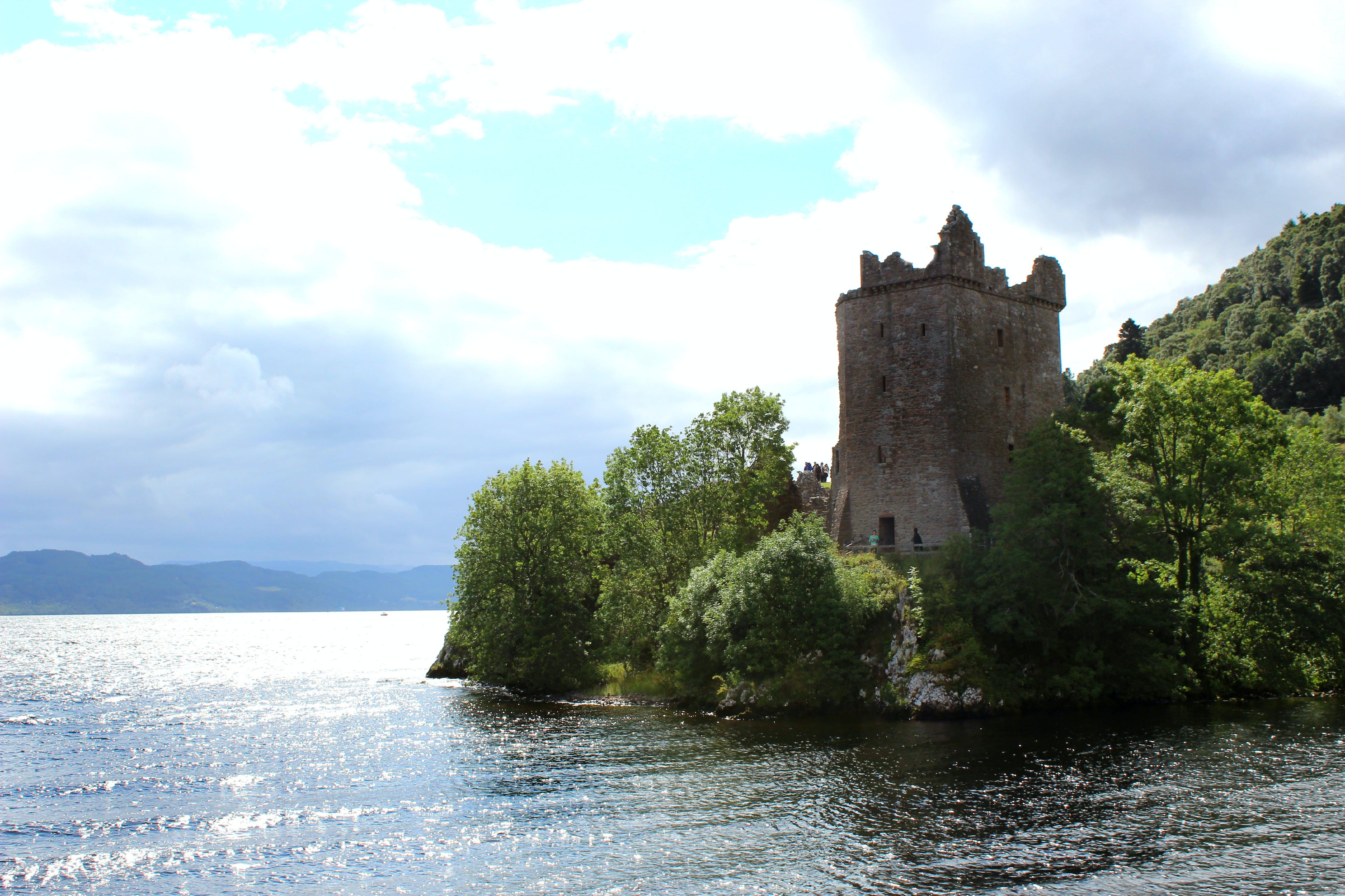 Free stock photo of castle ruins, lakeside, loch ness, scotland