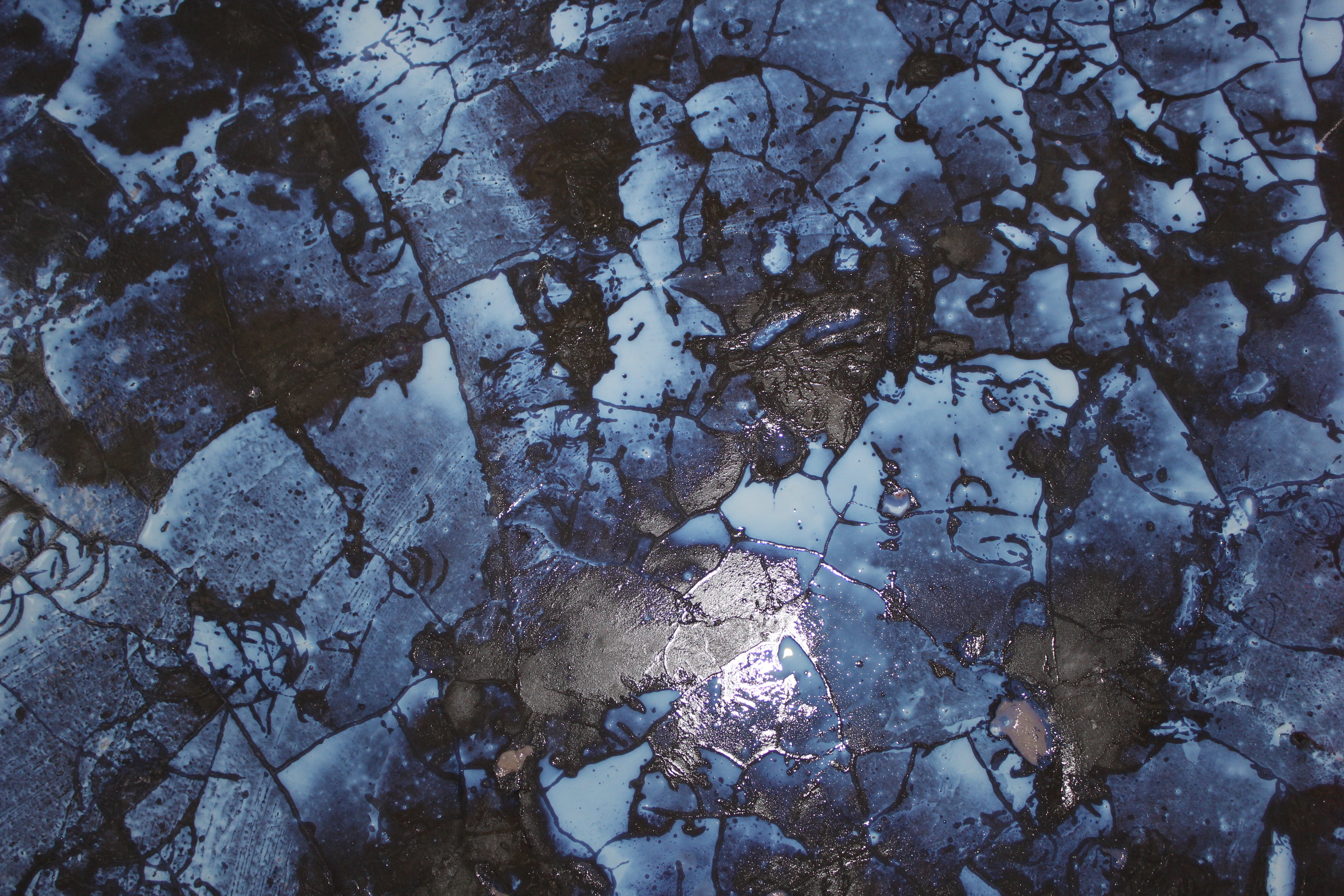 Free stock photo of abstract, blue, cool tones, cracked