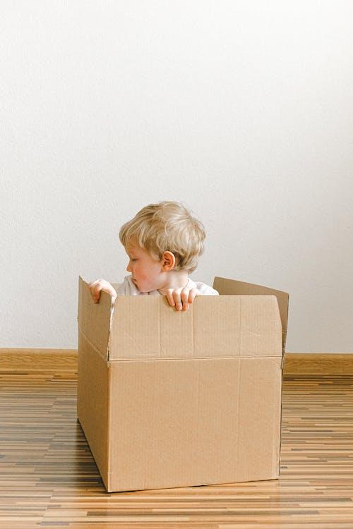 Little Boy Inside A Box