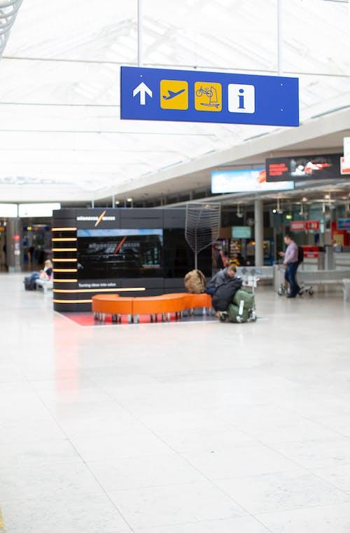 Foto d'estoc gratuïta de aeroport, interior, sortida, terminal