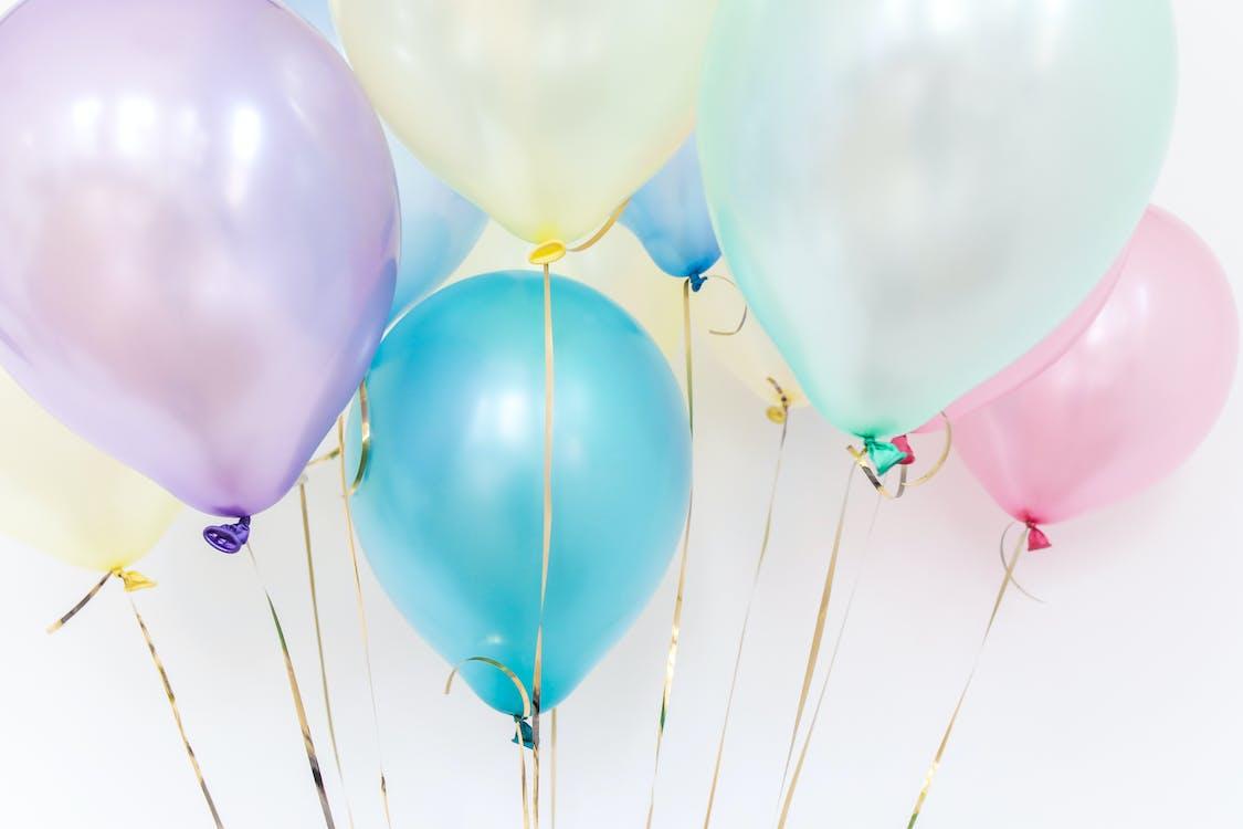 balóny, barevný, narozeniny