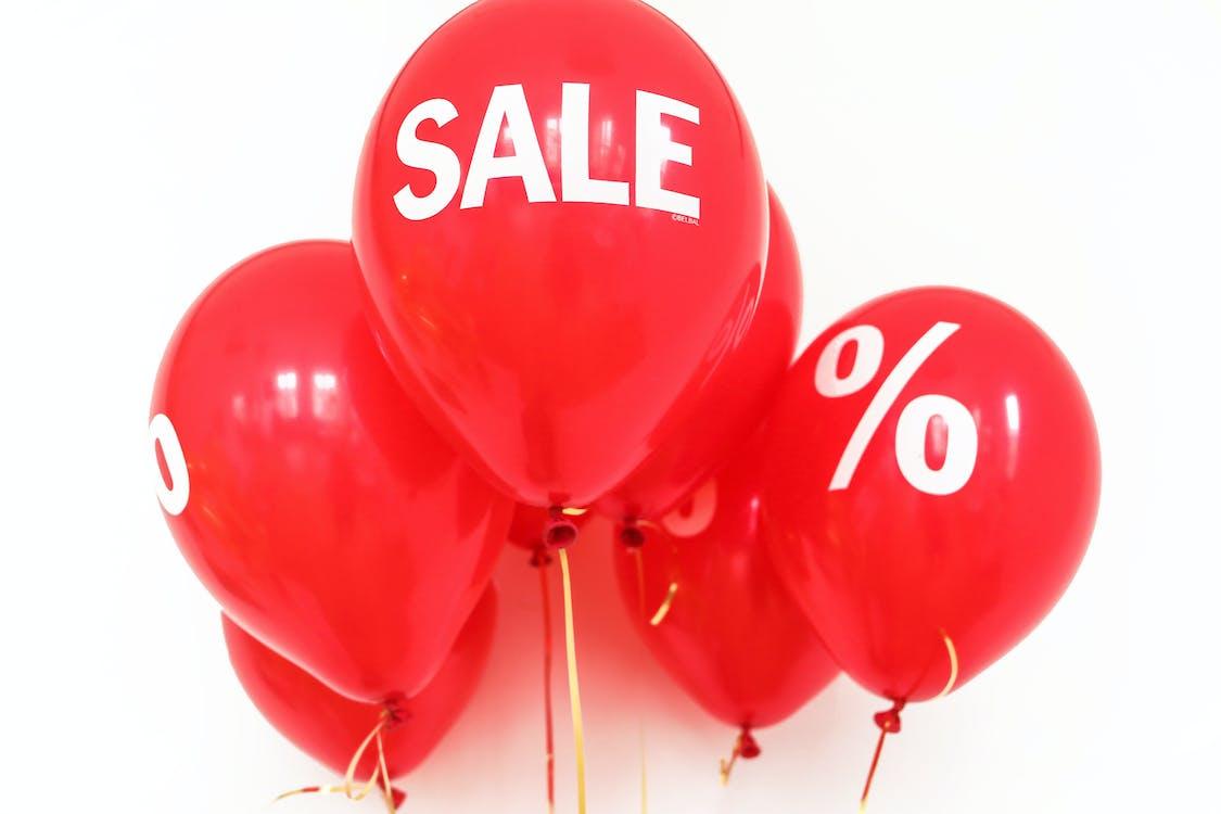 Gratis stockfoto met aanbieding, ballonnen, korting