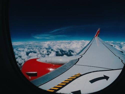Free stock photo of aeroplane, beautiful sky, cloud