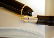 pen, writing, gold
