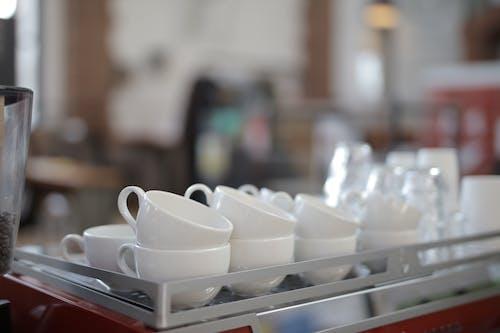 White Ceramic Teacups