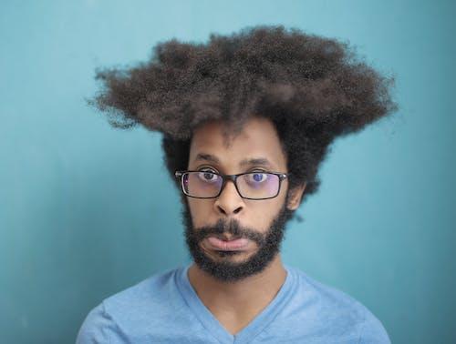 Fotos de stock gratuitas de actitud, barba, cabello, cabello afro