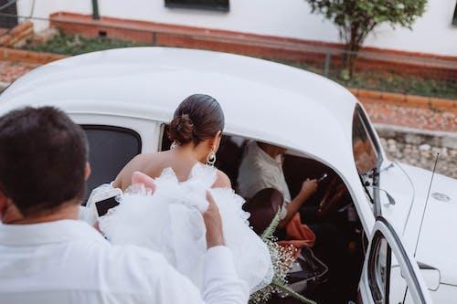 Free stock photo of old car, wedding ceremony