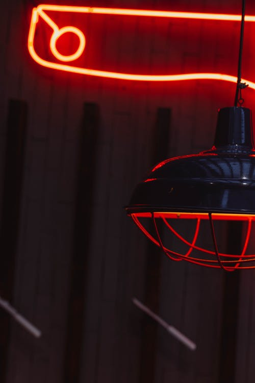 Free stock photo of flourescent lamp, neon light, restauarant