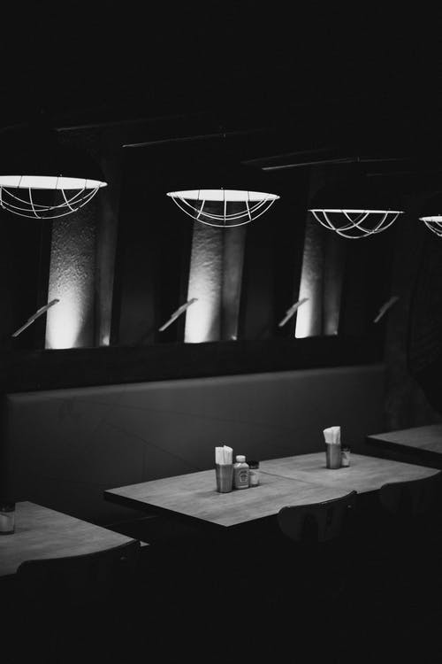 Free stock photo of black and white, heinz, restaurant