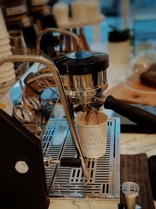 Free stock photo of black coffee, coffee break, coffee cup, coffee machine