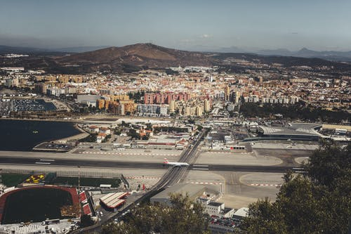 Free stock photo of airplane, airport, city, Gibraltar