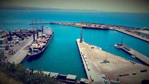 コンテナ船, ニュージーランド, 海洋, 港の無料の写真素材