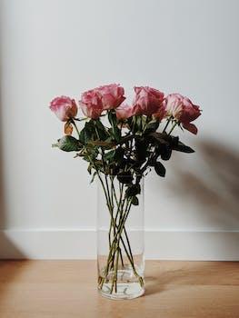 fleurs bouquet roses style