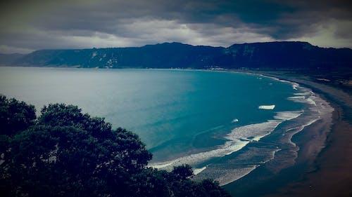 Free stock photo of beach, black, blue, cliffs