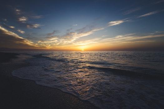 Free stock photo of sea, sunset, beach, water
