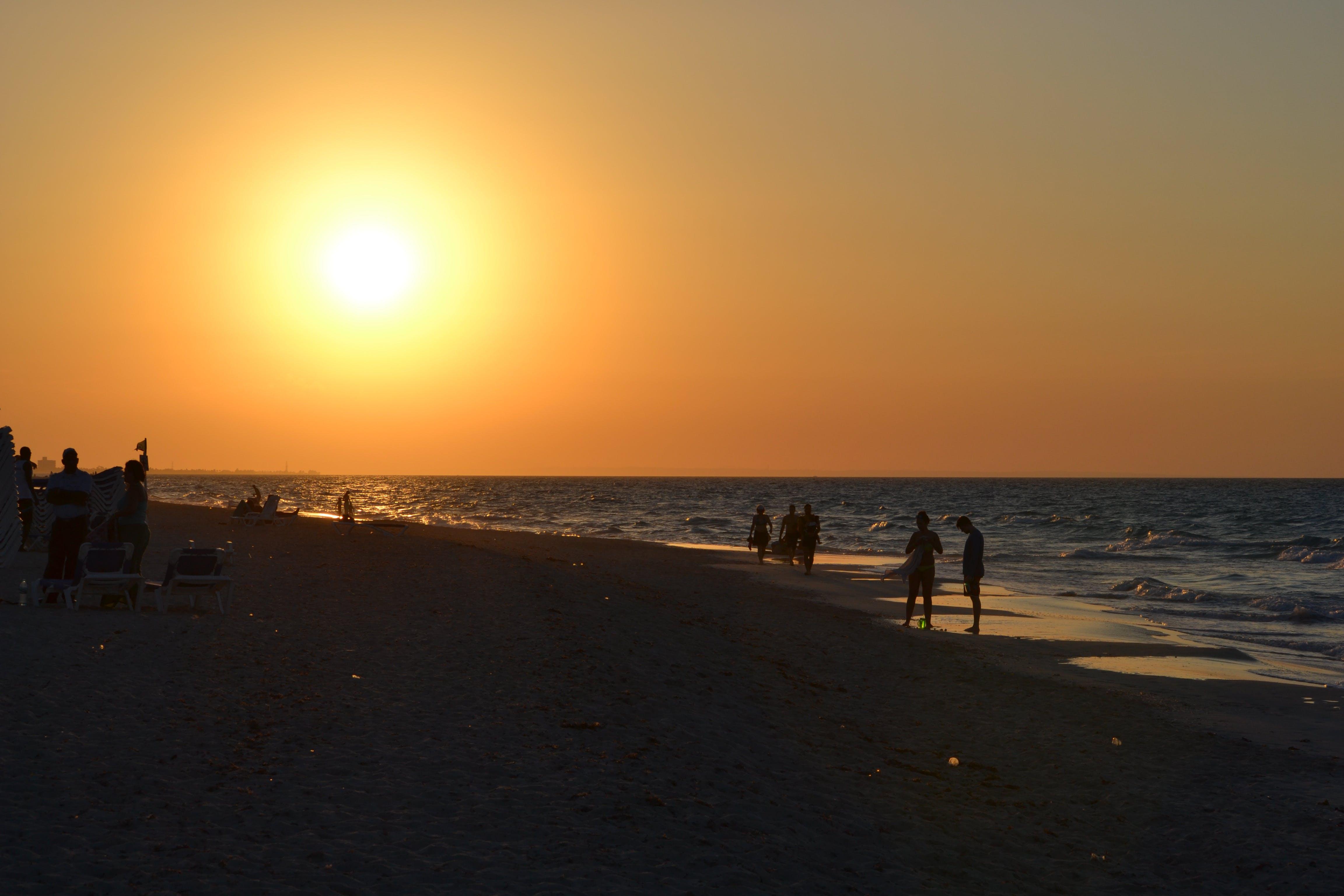 Free stock photo of sea, sunset, beach, ocean