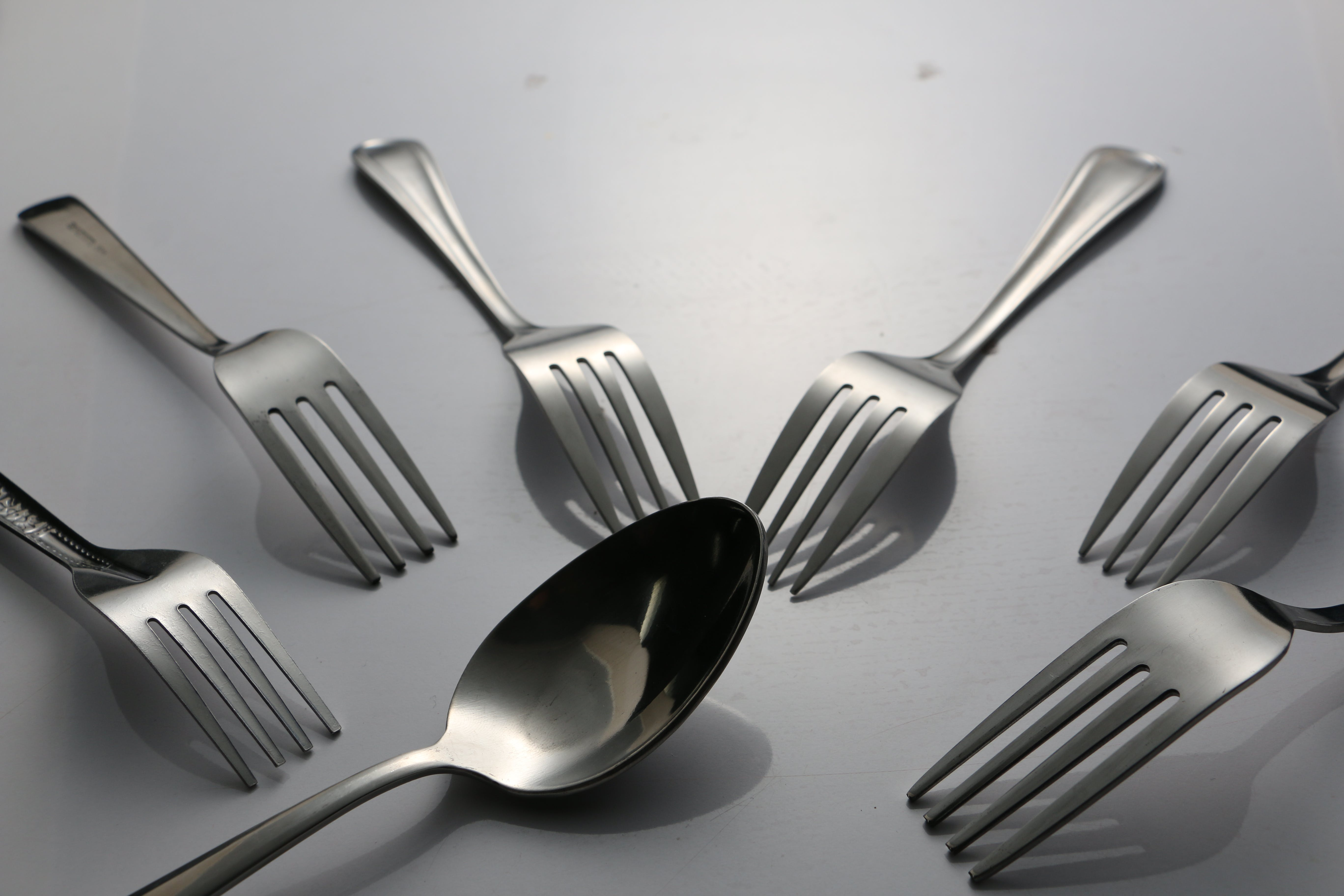 Free stock photo of spoon and fork