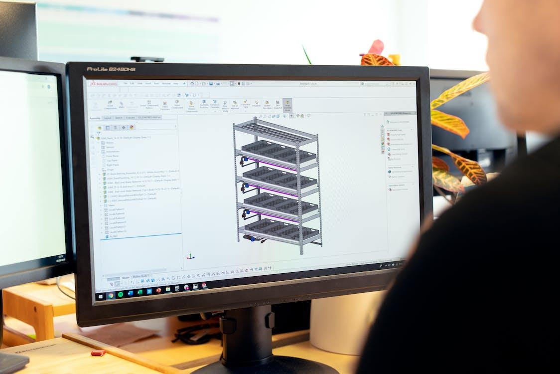 Engineer Designing Vertical Farm
