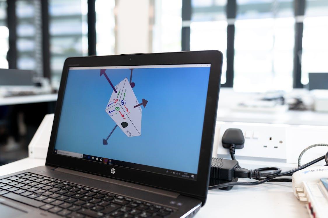 3D Design on Laptop Screen