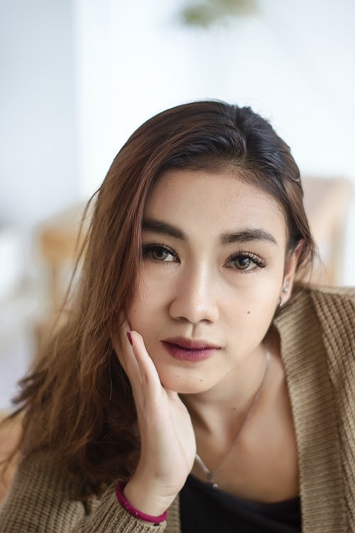 Porträtfoto Einer Schönen Frau