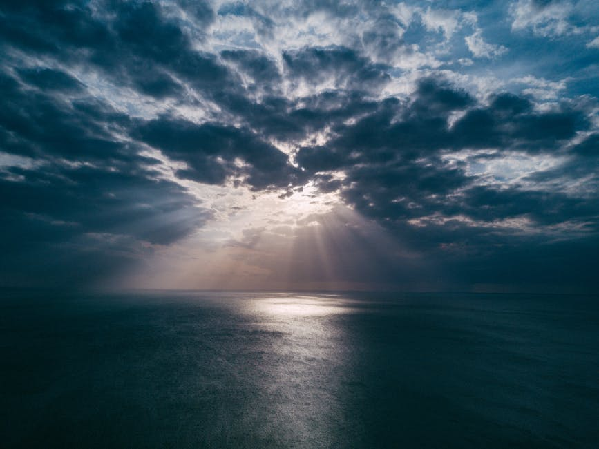 Beach clouds dawn dusk