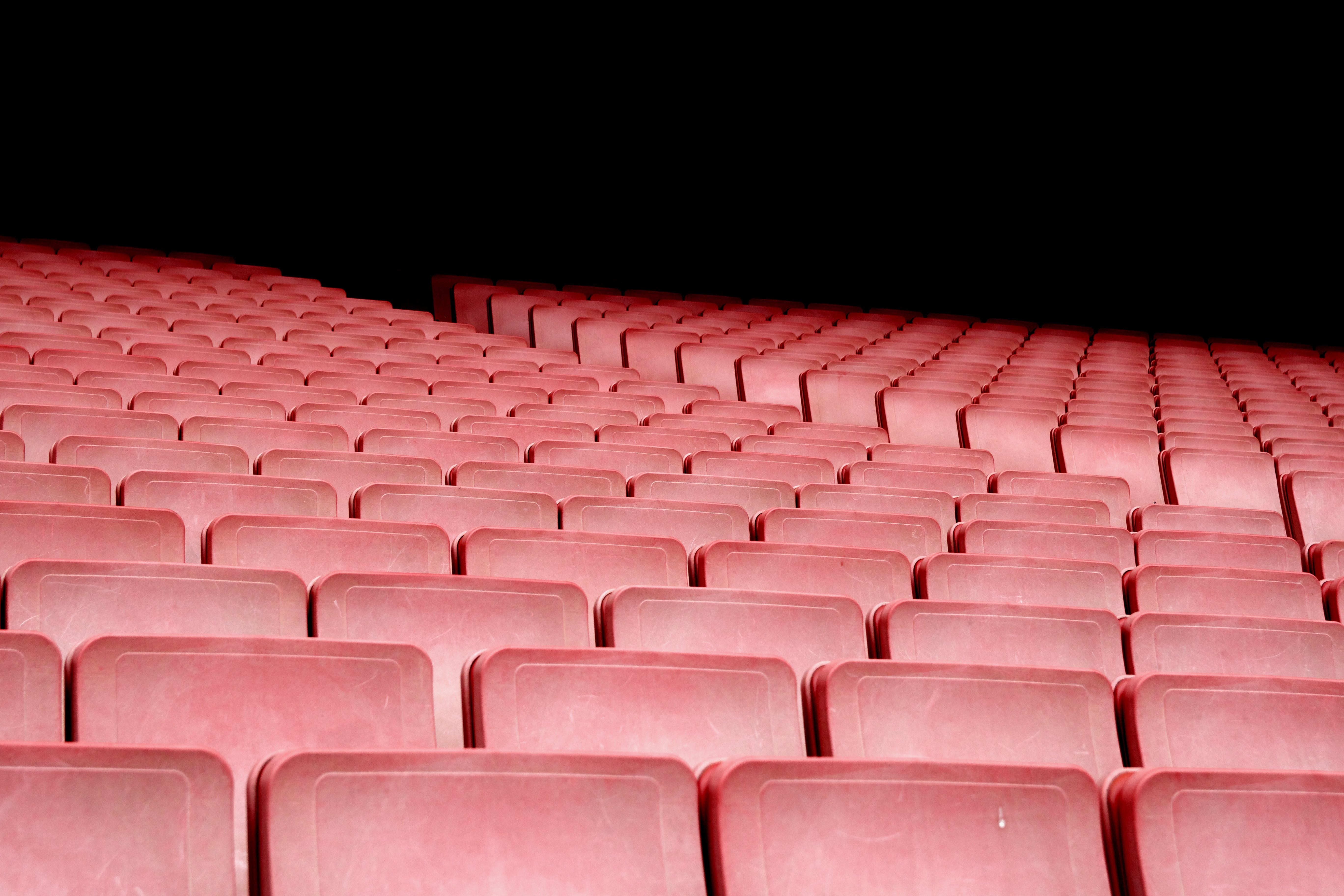 Free stock photo of red, stadium, row, chairs