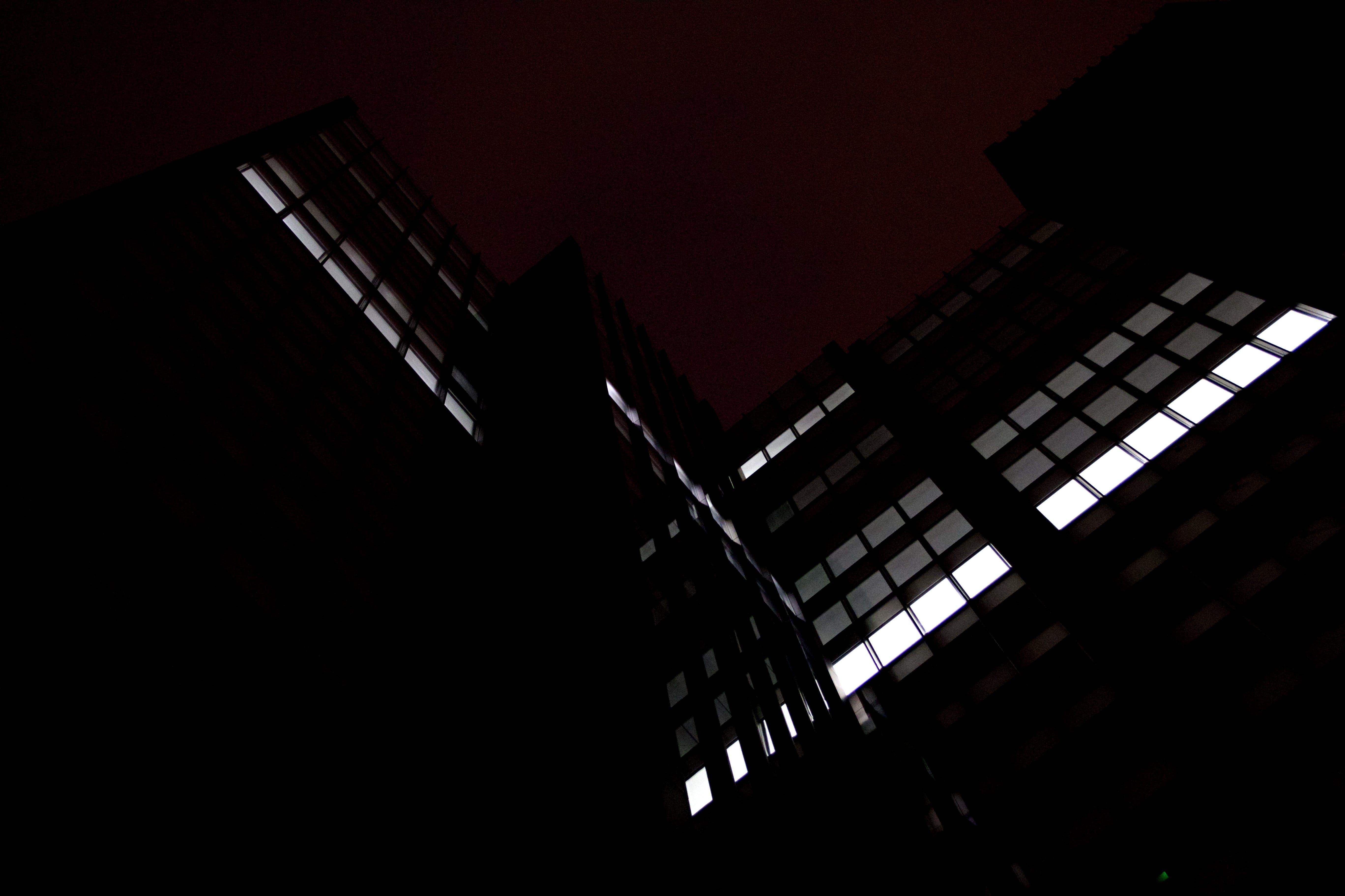 Free stock photo of street, dark, building, architect