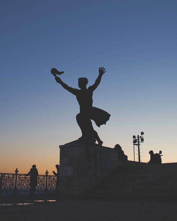 골든 아워, 동상, 부다페스트의 무료 스톡 사진