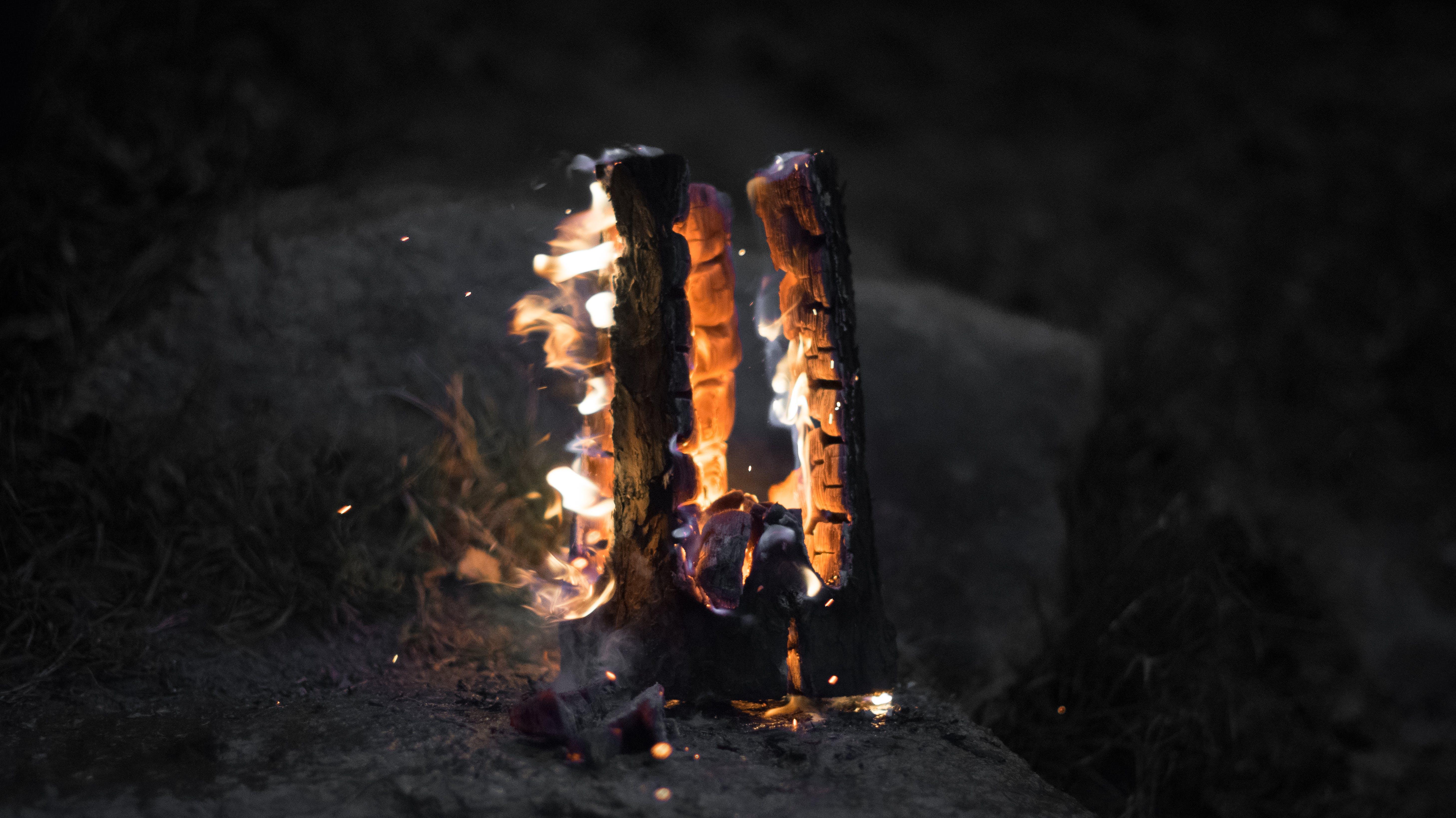 Free stock photo of burning, dark, fire, gray
