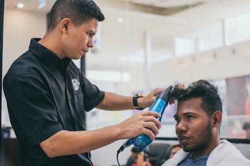 Man Getting His Hair Done