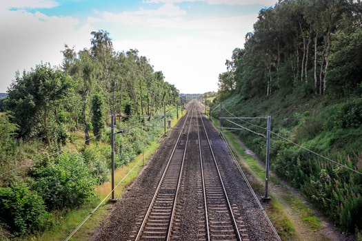 Free stock photo of green, railway, country, focus