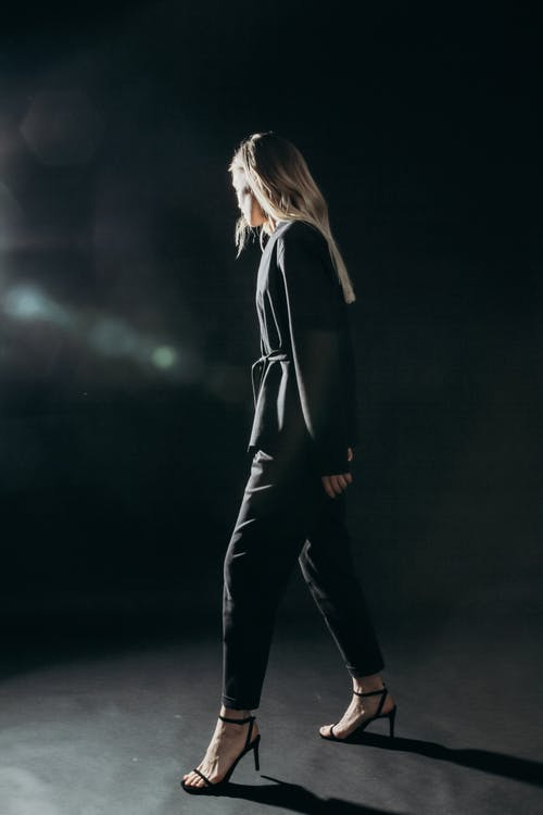Photo Of Woman Wearing Black Trousers