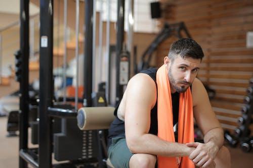 Man with Orange Towel