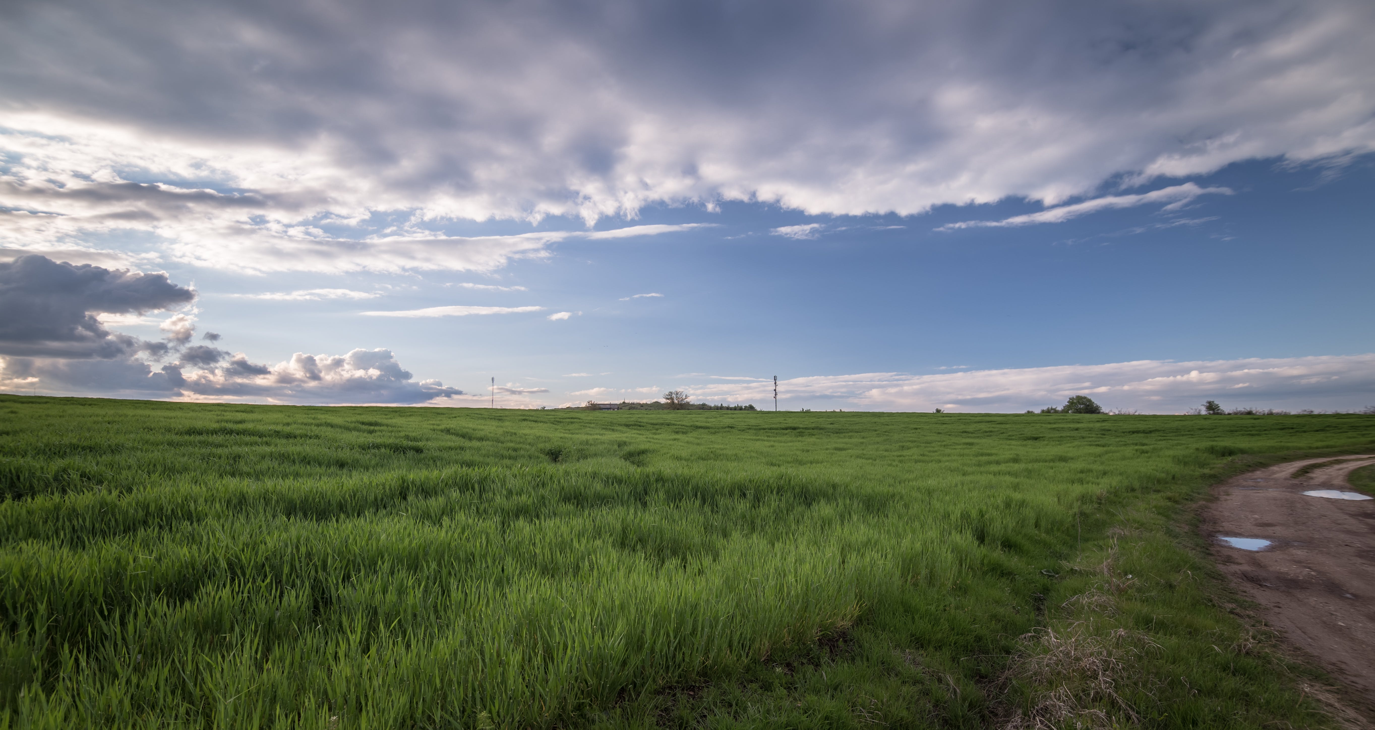 agriculture, clouds, country