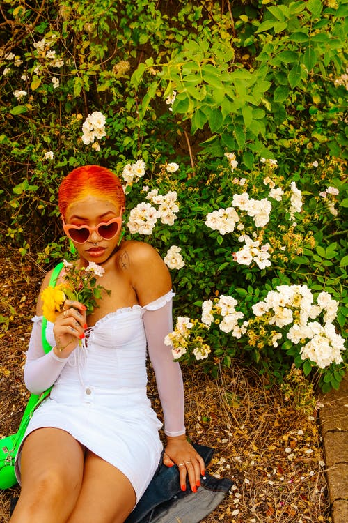 Foto profissional grátis de flores, laranja, moda