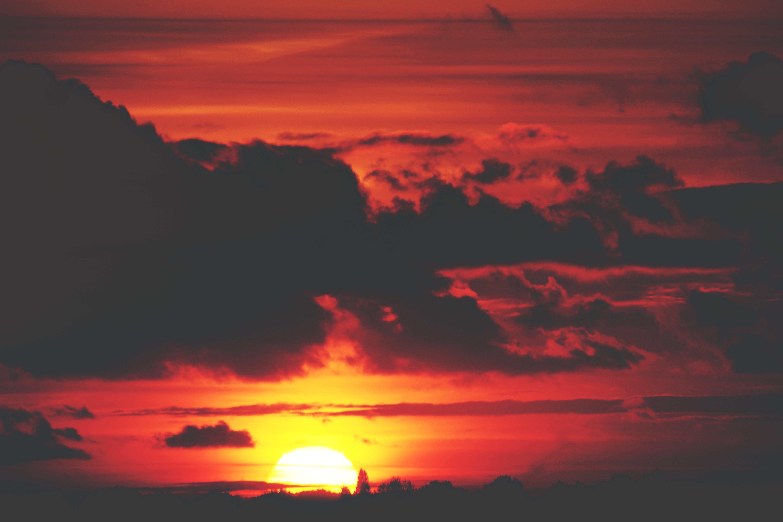 clouds, dark clouds, dawn