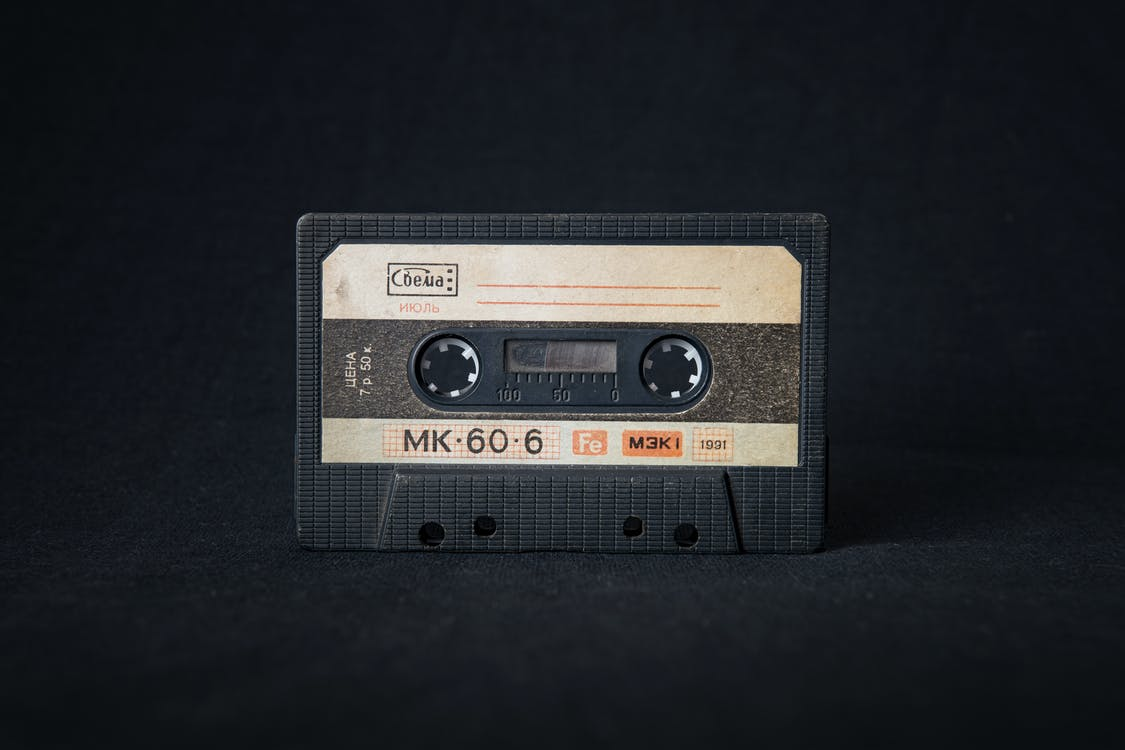 Close-Up Photo of Cassette Tape