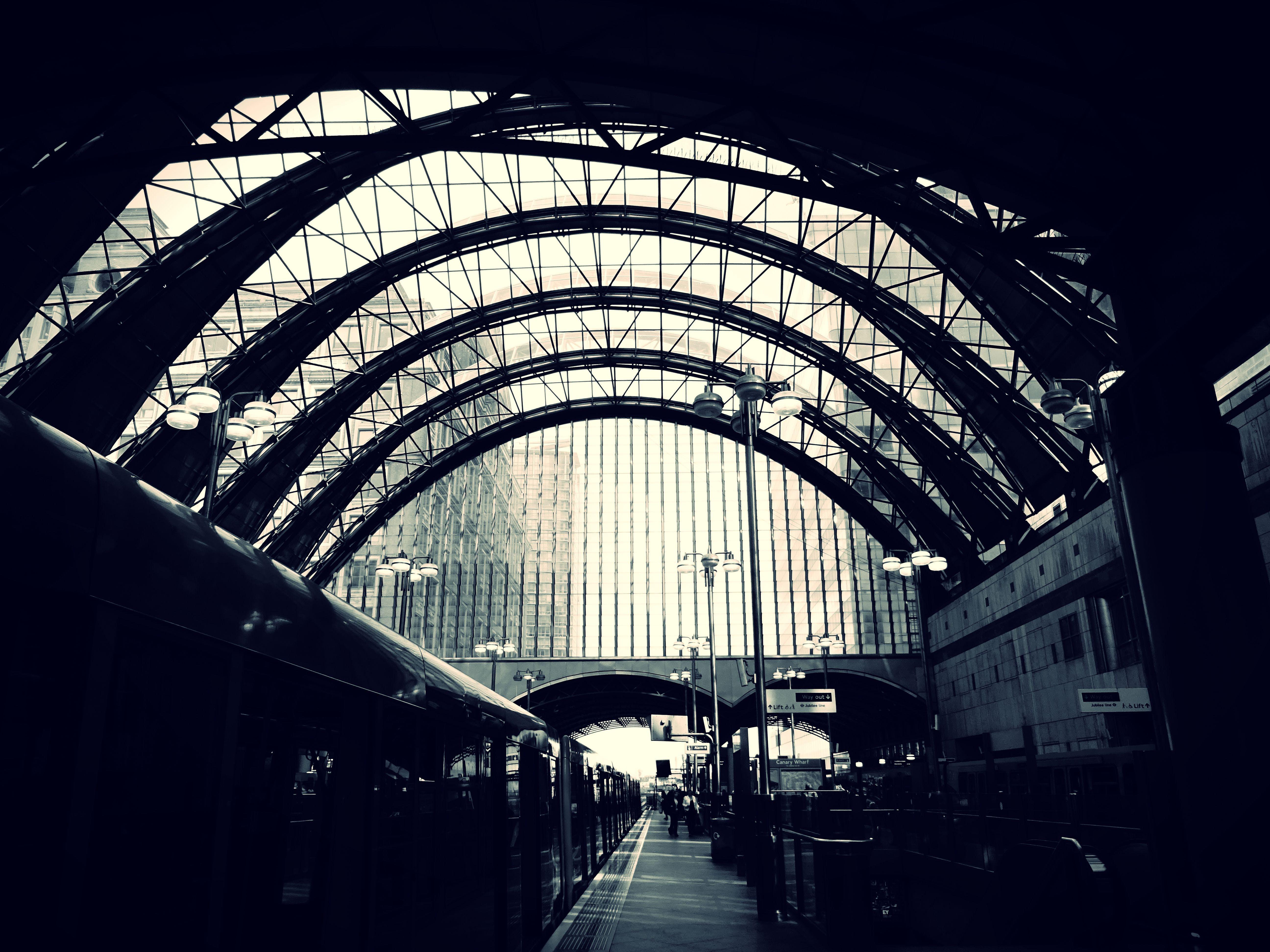 arches, architecture, black and-white