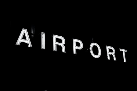Free stock photo of sign, airport, neon, illuminated area