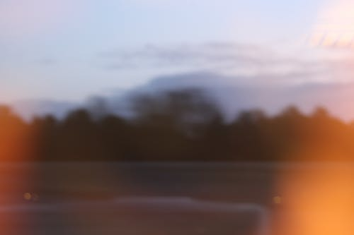 Amazing blurred countryside in evening