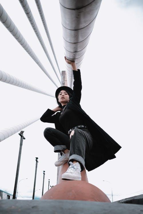 Photo Of Woman Wearing Black Coat