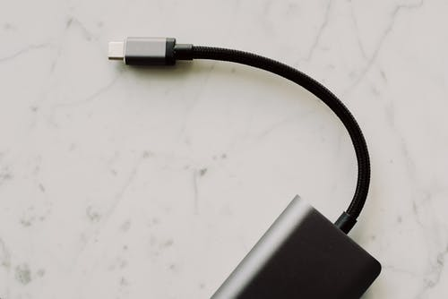 Usb-C Cable On White Surface